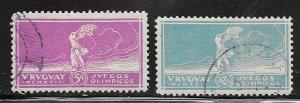 Uruguay #283-284 ( U) CV $20.00