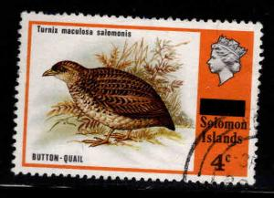 Solomon Islands Scott 299 Used Quail bird stamp