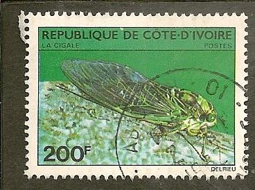 Ivory Coast       Scott 566   Insect   Used
