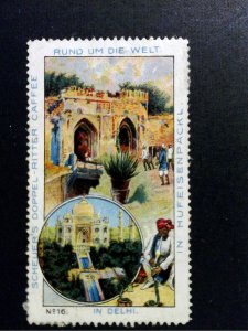 German Poster Stamp - Around the World/Rund um die Welt #16