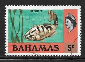 Bahamas 317a: 5c Nassau Grouper (Epinephelus striatus), used, VF