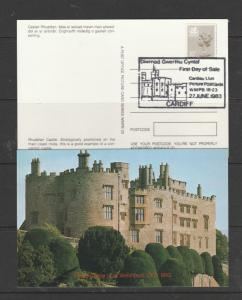Wales, 1983 First day of sale, Cardiau Llun Picture Postacrds, set of 5 ??, with