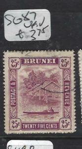 BRUNEI  (PP0905B) 25C RIVER SG 87   VFU