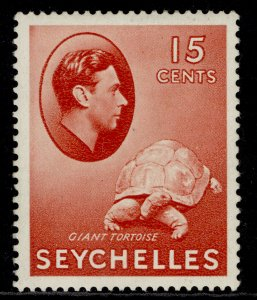 SEYCHELLES GVI SG139a, 15c brown-carmine, M MINT. Cat £28.