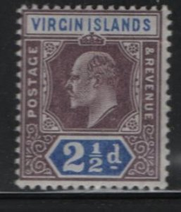 VIRGIN ISLANDS, 32, HINGED, 1904, Edward VII