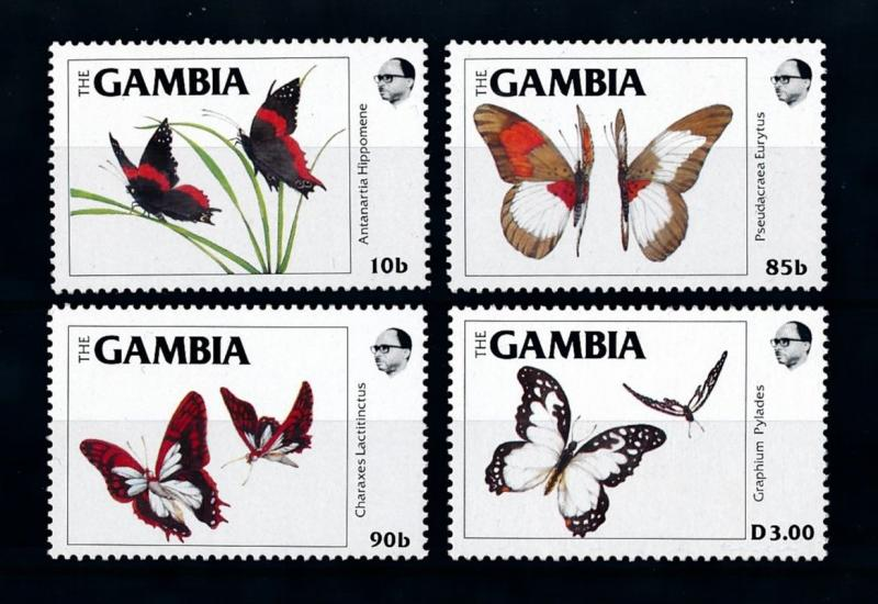 [70696] Gambia 1984 Insects Butterflies  MNH