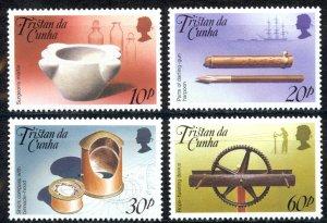 Tristan Da Cunha Sc# 468-471 MNH 1989 Artifacts
