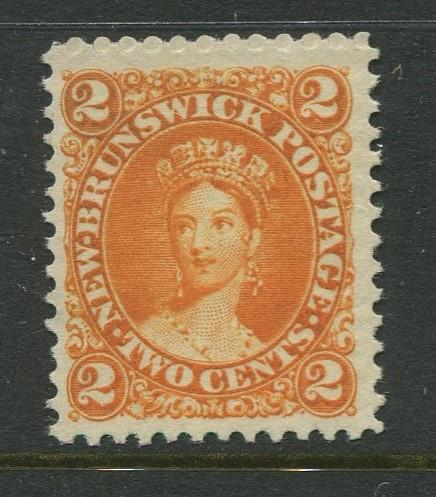 New Brunswick. -Scott 7 - QV Definitive Issue -1860 - MNG -Single 2c Stamp