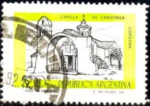 Candonga Chapel, Cordoba, Argentina stamp SC#1173 used