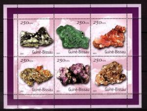 Guinea-Bissau MNH S/S Minerals 2001 6 Stamps
