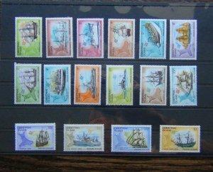 Christmas Island 1972 Ships set to $1 MNH SG37 - SG52
