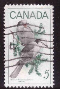 Canada Scott 478 Used stamp typical cancel Gray Jay Bird