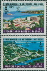 New Hebrides French 1976 SGF226-F227 Constitutional Changes MNH