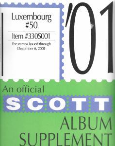 Scott Luxembourg #50 Supplement 2001