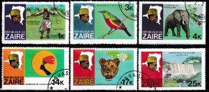 Zaire,  Sc 902-904,906-908, CTO-NH,  Fold - UL of 908, AA02330