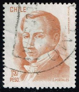 Chile #482 Diego Portales; Used (0.25)