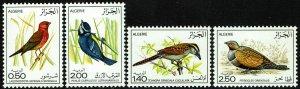 Algeria #563-66  MNH - Birds Firefinch Shrike Sandgrouse (1976)