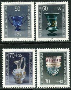 GERMANY BERLIN Sc#9NB238-9NB241 1986 Glassware Complete SP Set OG Mint NH