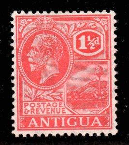Antigua 1921 KGV 1½d carmine-red wmk MSCA SG 68 mint