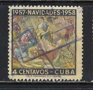 CUBA 589 VFU CHRISTMAS H431-1