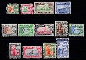 Zanzibar 1961 Sultan Sir Abdulla Part Set (to 5s) [Unused]