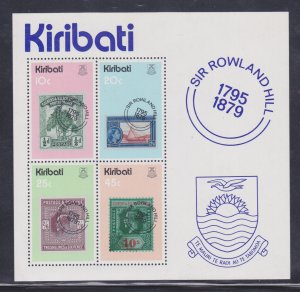 Kiribati 1979 Sc#344a SIR ROWLAND HILL STAMPS ON STAMPS S/S MNH