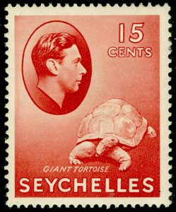SEYCHELLES SG139ab, 15c brown-red, M MINT. Cat £10. ORDINARY