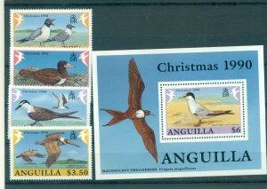 Anguilla - Sc# 825-9. 1995 Birds. Set & Souv. Sheet. MNH. $19.80.
