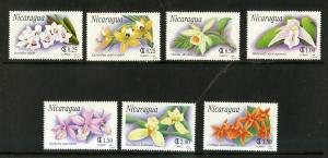 NICARAGUA 1863-1869 MNH SCV $4.20 BIN $2.25 FLOWERS
