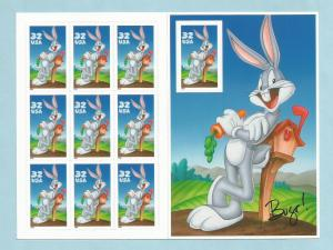 3137 US Disney NH Mint Sheet of 10 Bugs Bunny - Looney Tunes issued year 1997