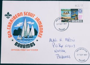 Bahamas 1977 6th Carribean Scout Jamboree Official First Day Cover