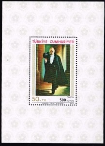 TURKEY Stamp  1973 The 50th Anniversary of the Republic MNH S/S