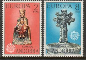 ANDORRA (SPANISH) 79-80, EUROPA 1974. LITTLE FOXING ON BACK MNH. F-VF. (102)