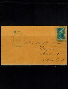 Scott #14 VF on cover. With 2010 PF certificate.