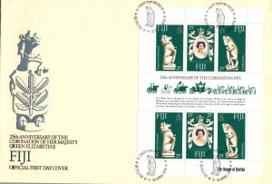 Fiji 384 Souvenir Sheet U/A FDC