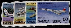 SAMOA QEII SG501-504, 1978 aviation progress, NH MINT.