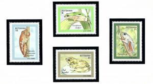 Botswana 510-13 MNH 1992 Climbing Frogs