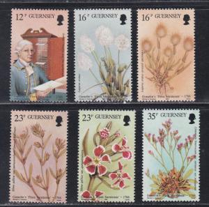 Guernsey # 394-399, Flora Book Publication, NH, 1/2 Cat.