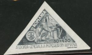 ROMANIA Scott CB2 MH* Airmail semi-postal stamp 1945
