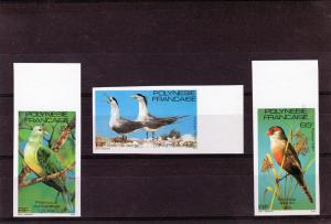 French Polynesia 1981 Birds Set (3) Imperf.MNH Sc # 349/351