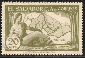EL SALVADOR C175, CHALATENANGO. USED. VF. (478)