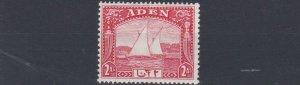 ADEN  1937  S G  4   2A  SCARLET      MH