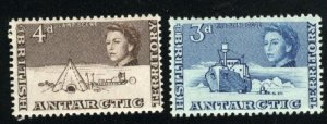 British Antarctic Territory #2-3  Mint NH VF 1963 PD