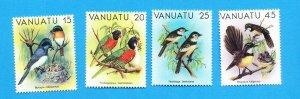 VANUATU - Scott 319-322 - VFMNH but two have disturbed gum - BIRD topical