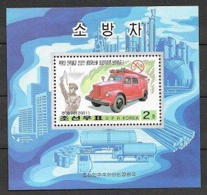 North Korea Sc 4122 Fire Engine MNH