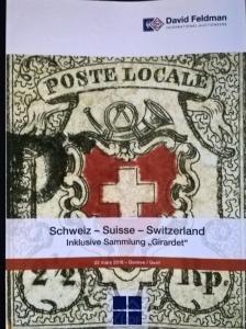 Auction catalogue SCHWEIZ Giradet Classic SWITZERLAND Stamps and Covers