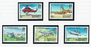 Alderney: 1985, 50th Anniversary of Alderney Airport,  MNH set