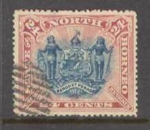 NORTH BORNEO Sc# 67 USED FVF Coat of Arms