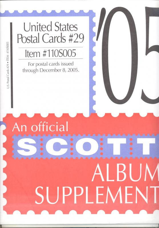 U. S. Postal Cards Supplement # 29