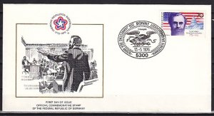 Germany, Scott cat. 1216. American Bicentennial issue. First day cover. ^